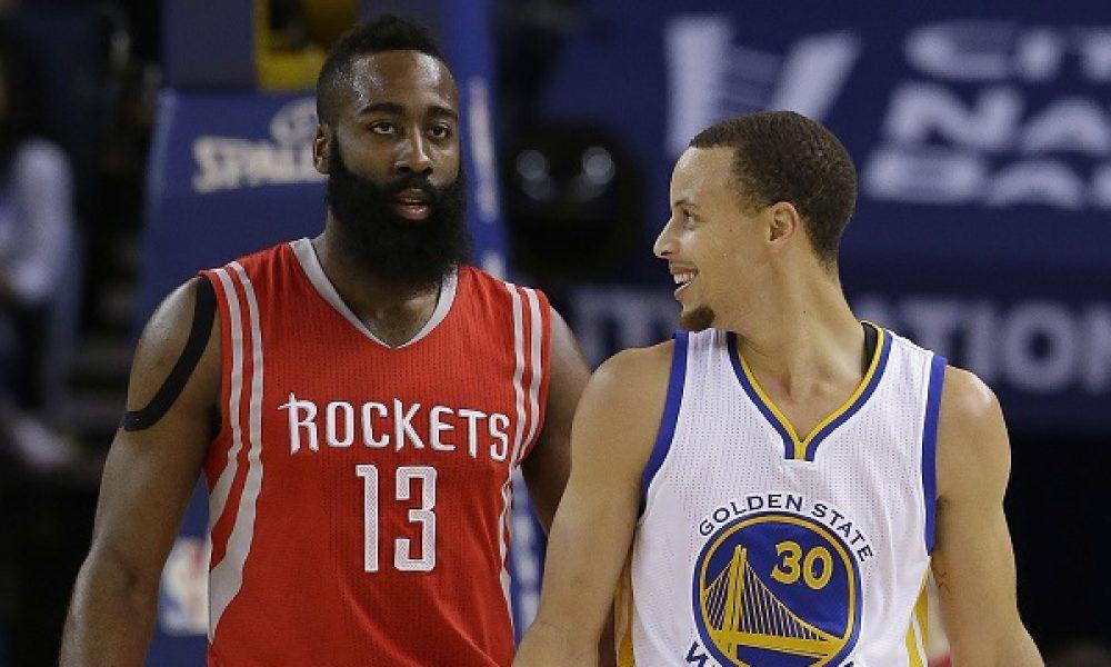 Stephen Curry, Rockets, Warriors, James Harden