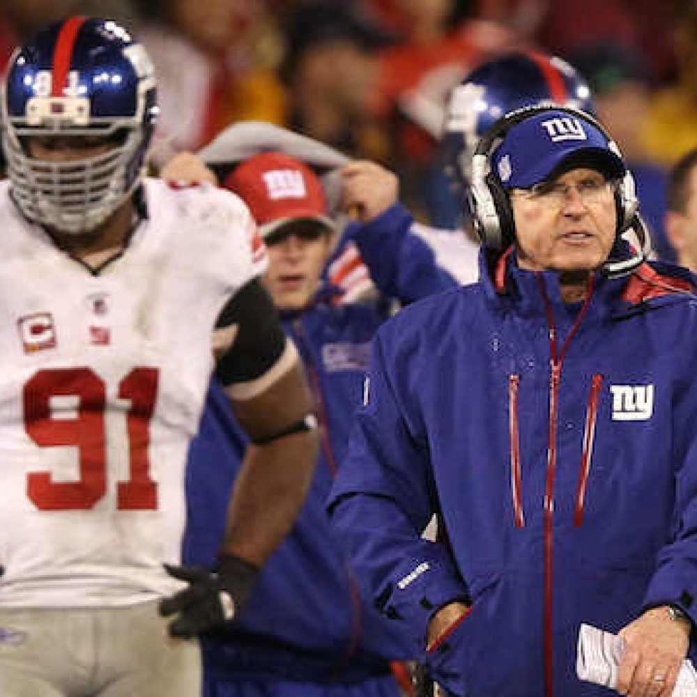 Justin Tuck, Tom Coughlin