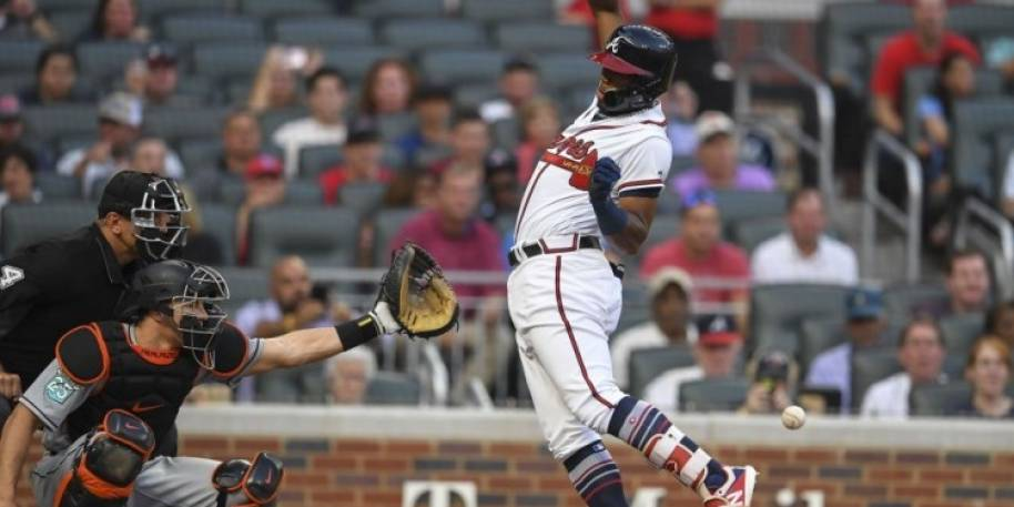 Ronald Acuna Jr. Hit By First Pitch, Dugouts and Bullpens Empty
