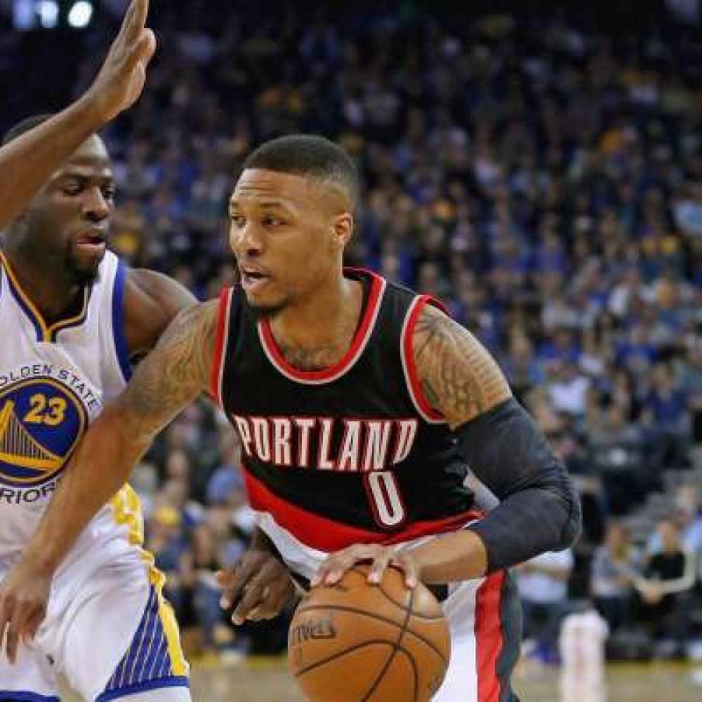 Damian Lilard, Blazers, Warriors, Draymond Green