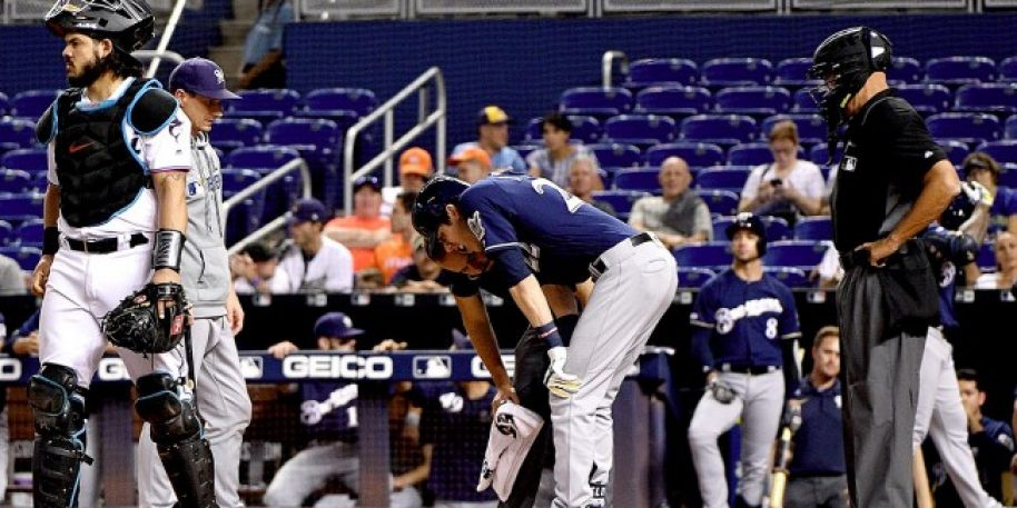Brewers Lose Christian Yelich with Fractured Kneecap